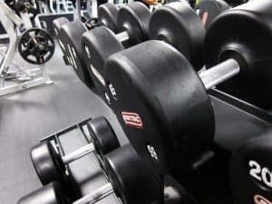hantle na siłowni