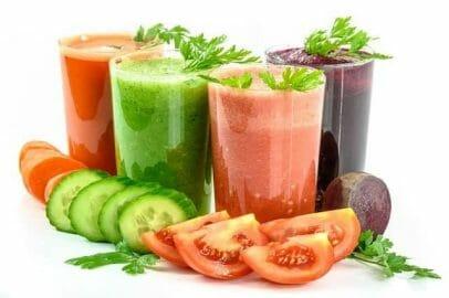 koktajle warzywne i warzywa