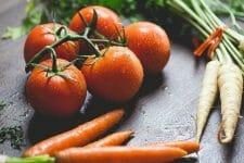 pomidory, marchew i pietruszka