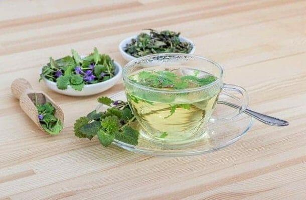 Herbata ziołowa w filiżance